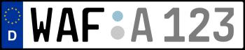 Kennzeichen WAF