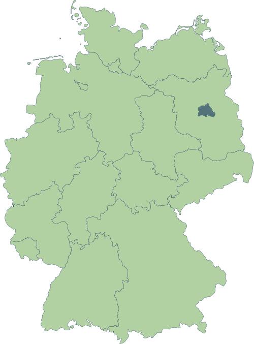 Karte: Lage von Berlin in Deutschland
