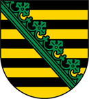 Sachsen Wappen: Bundesland Sachsen