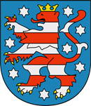 Th�ringen Wappen: Bundesland Th�ringen
