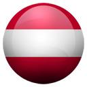 Flagge von Österreich bzw. Austria