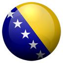 Flagge von Bosnien-Herzegowina bzw. Bosnia & Herzegovina
