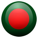 Flagge von Bangladesch bzw. Bangladesh