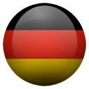 Flagge von Deutschland bzw. Germany