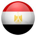 Flagge von Ägypten bzw. Egypt