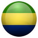 Flagge von Gabun bzw. Gabon
