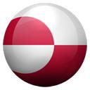 Flagge von Grönland bzw. Greenland