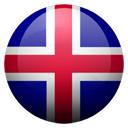 Flagge von Island bzw. Iceland