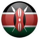 Flagge von Kenia bzw. Kenya