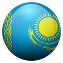 Flagge von Kasachstan bzw. Kazakhstan
