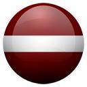 Flagge von Lettland bzw. Latvia
