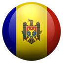 Flagge von Moldau bzw. Moldova