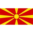 Flagge von Mazedonien bzw. Macedonia