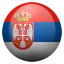 Flagge von Serbien bzw. Serbia