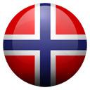 Flagge von Spitzbergen und Jan Mayen bzw. Svalbard and Jan Mayen Islands