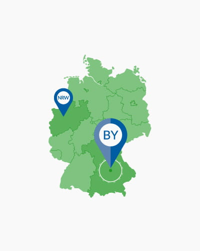 Bundesland: Suche nach Ort oder Postleitzahl