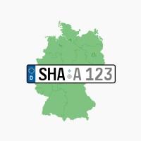 Kennzeichen SHA: Rosengarten