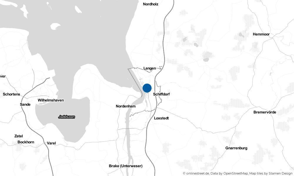 Karte: Wo liegt Bremerhaven?