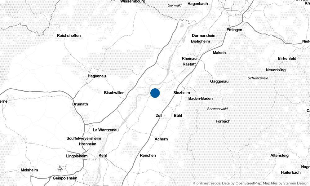 Karte: Wo liegt Rheinmünster?