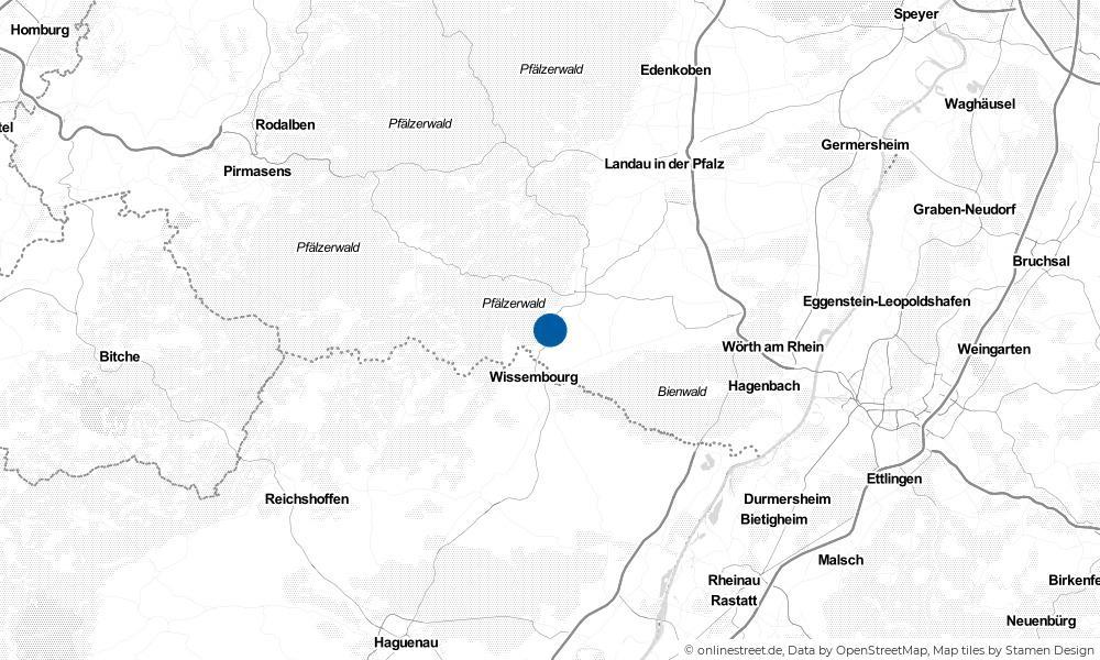 Karte: Wo liegt Oberotterbach?