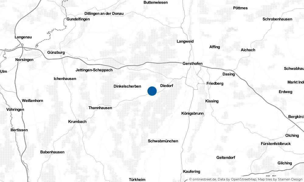 Karte: Wo liegt Kutzenhausen?