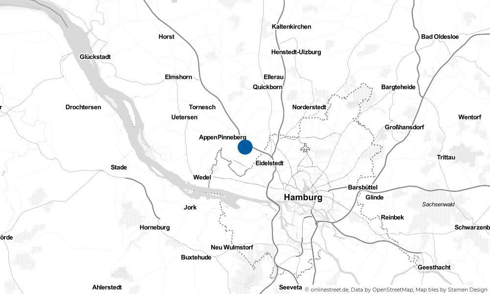 Karte: Wo liegt Halstenbek?