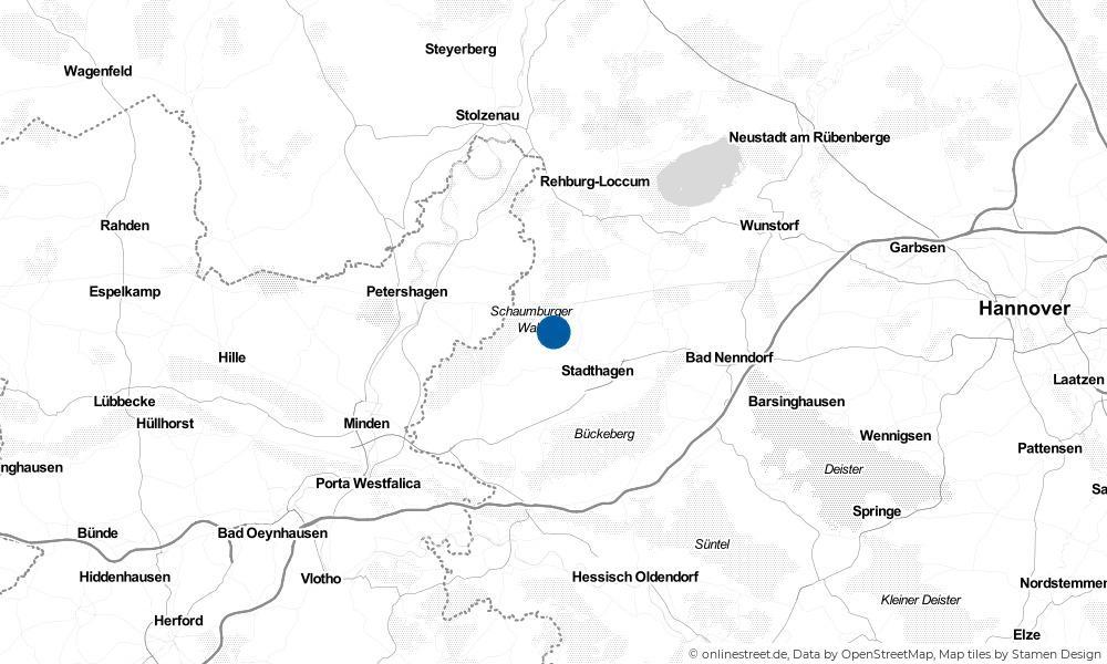 Karte: Wo liegt Niedernwöhren?