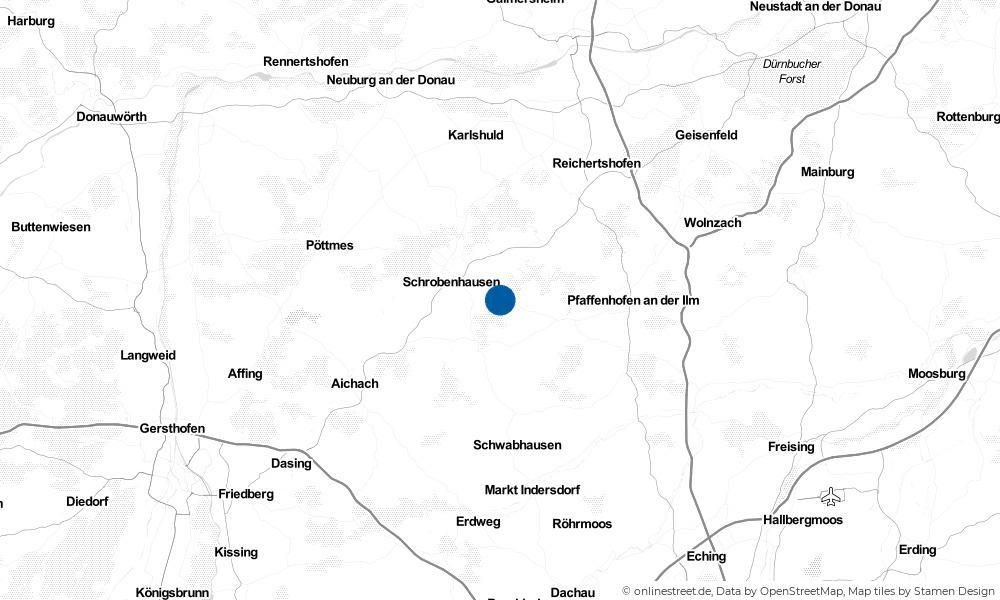 Karte: Wo liegt Gerolsbach?