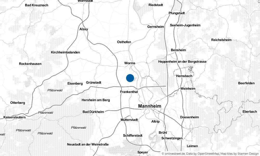 Karte: Wo liegt Bobenheim-Roxheim?
