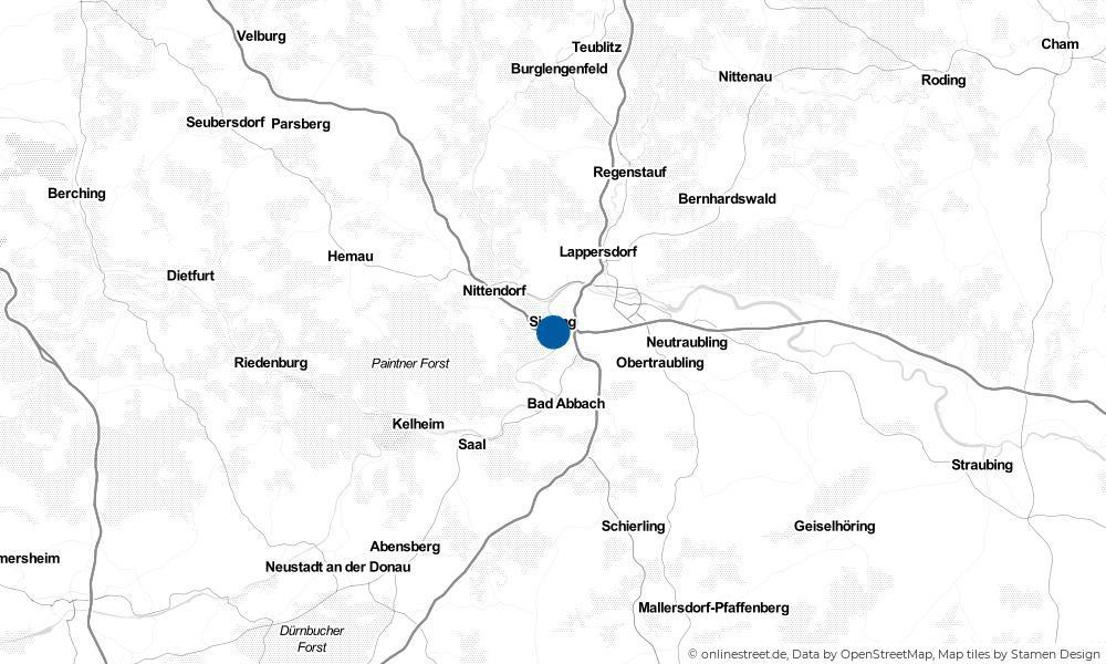 Karte: Wo liegt Sinzing?