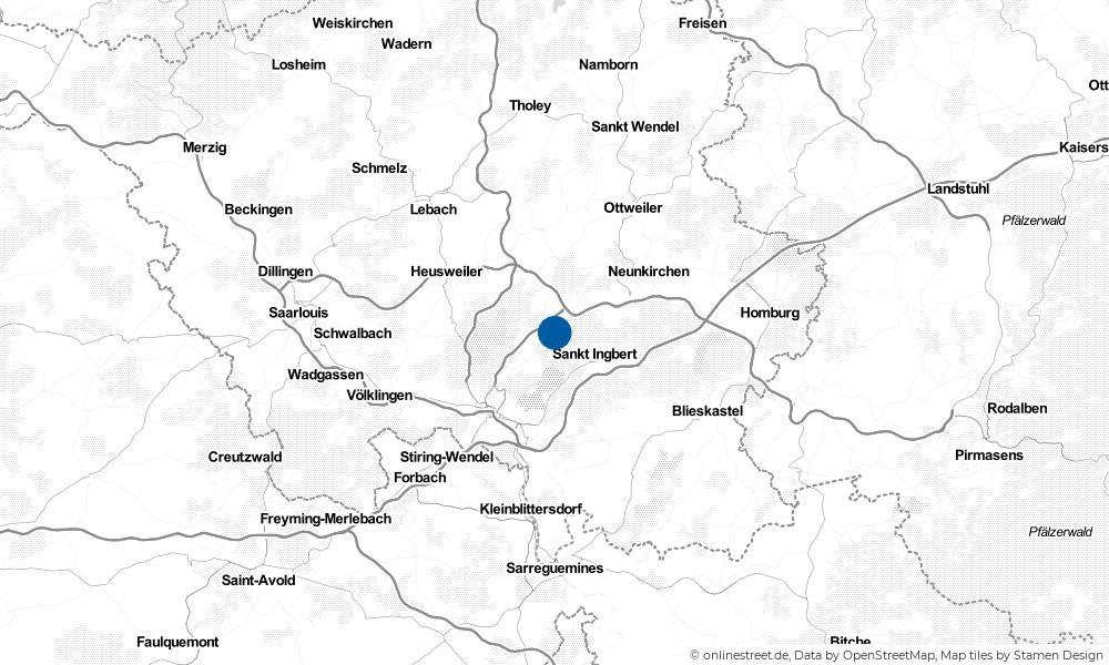 Karte: Wo liegt Sulzbach (Saar)?