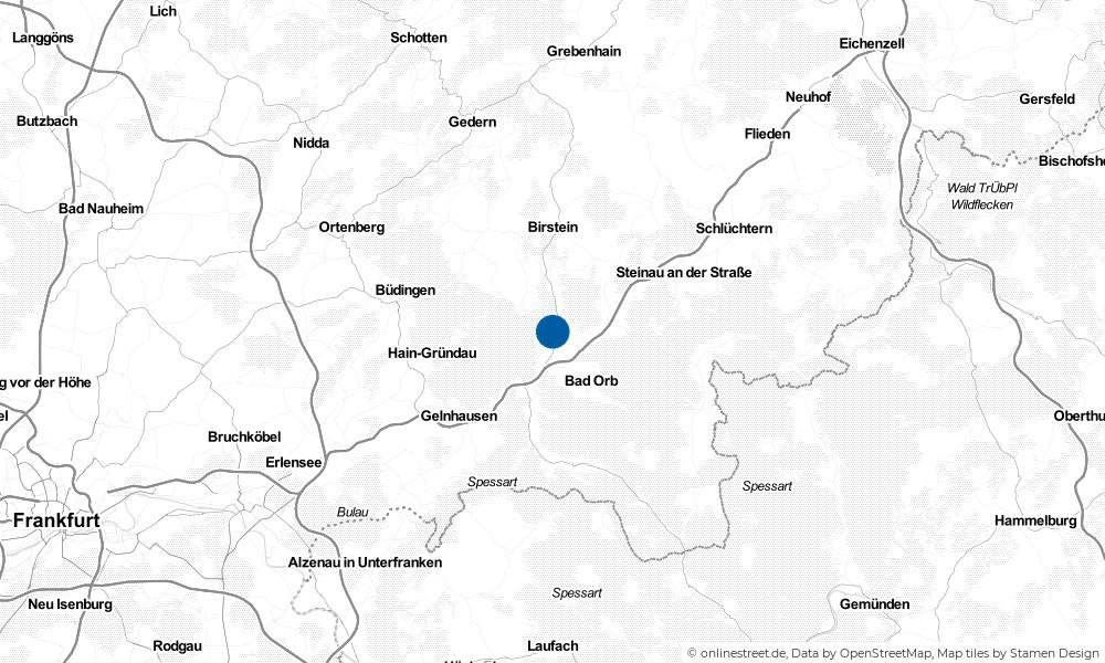 Karte: Wo liegt Wächtersbach?