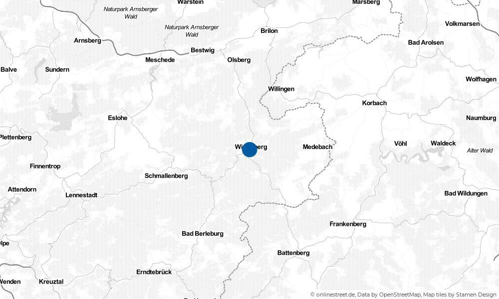 Karte: Wo liegt Winterberg?
