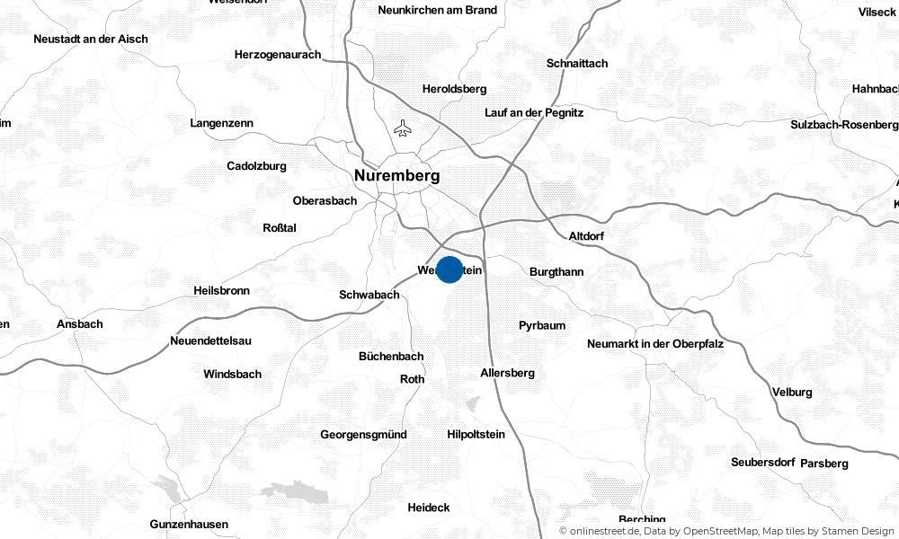 Karte: Wo liegt Wendelstein?