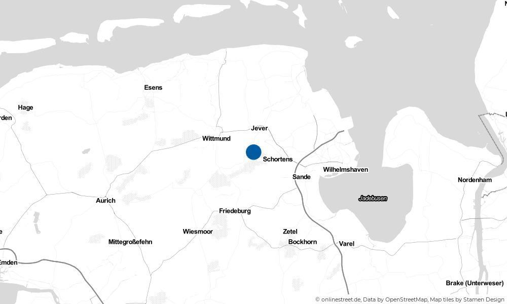Karte: Wo liegt Upjever?