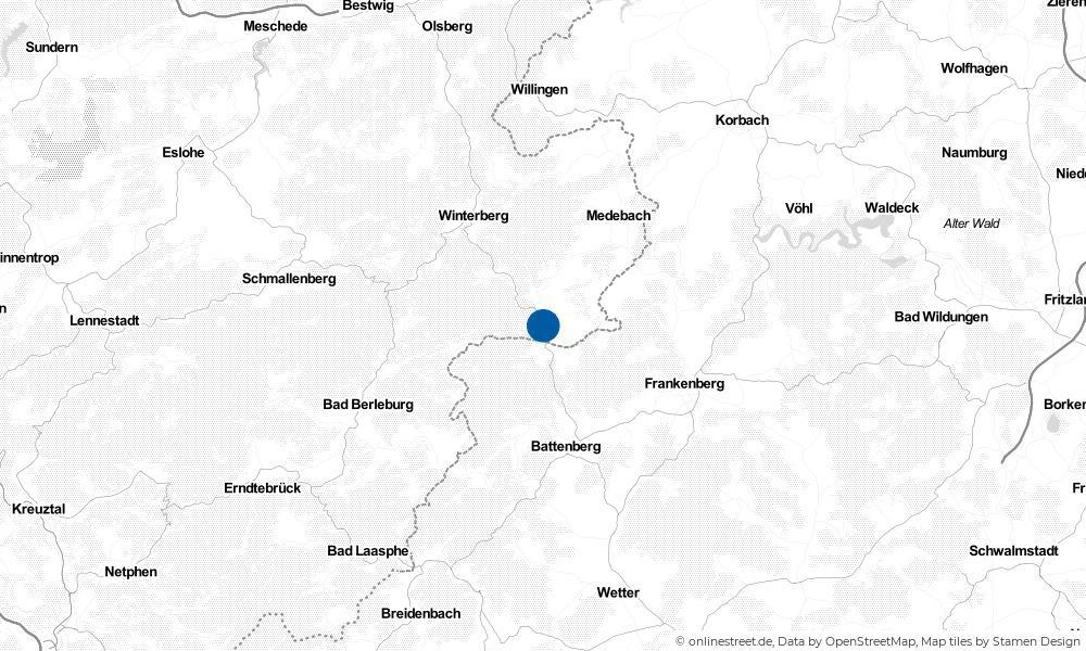 Karte: Wo liegt Hallenberg?