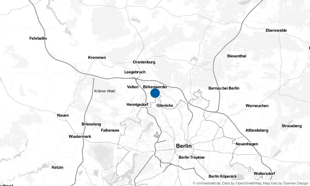 Karte: Wo liegt Hohen Neuendorf?