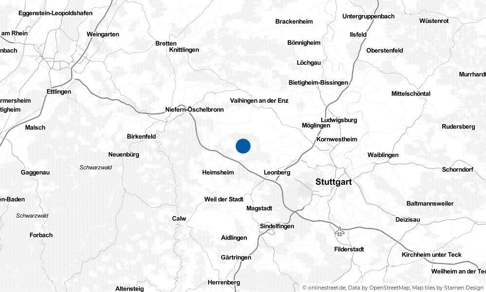 Karte: Wo liegt Weissach?