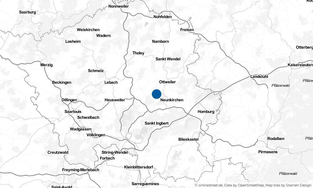 Karte: Wo liegt Schiffweiler?