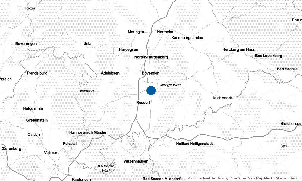 Karte: Wo liegt Göttingen?