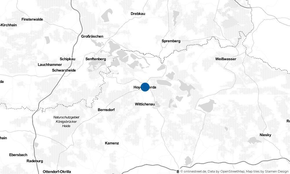 Karte: Wo liegt Hoyerswerda?