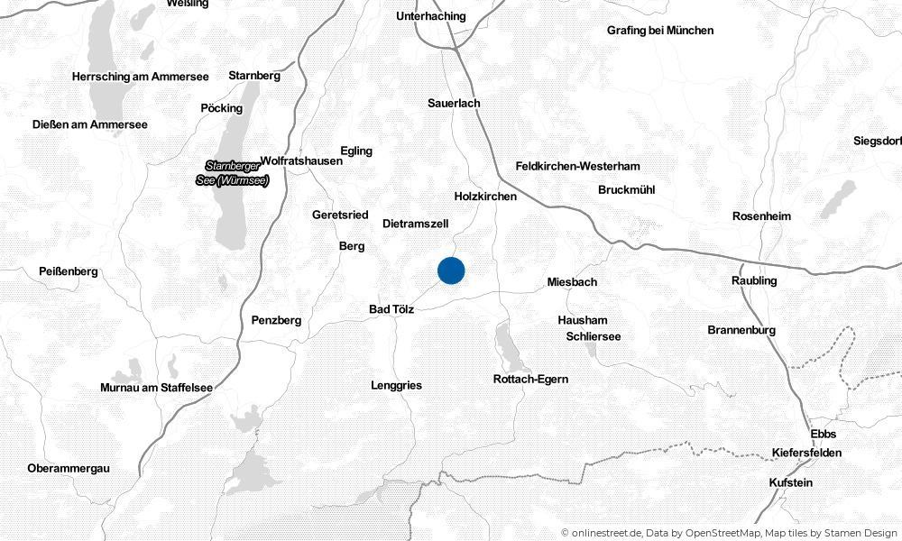 Karte: Wo liegt Sachsenkam?