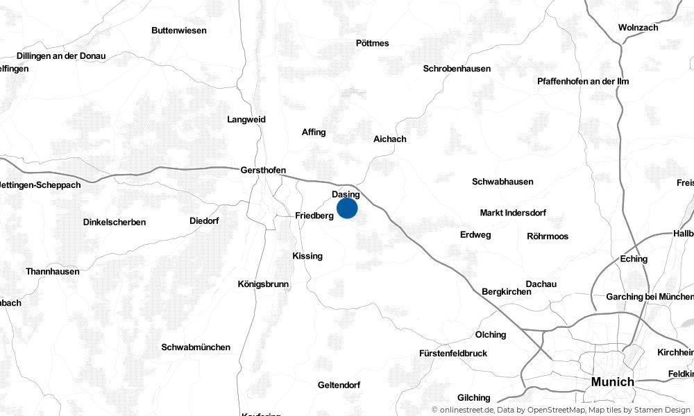 Karte: Wo liegt Dasing?