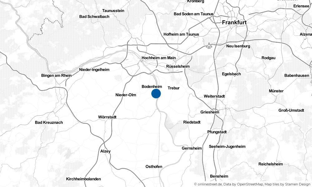 Karte: Wo liegt Nackenheim?