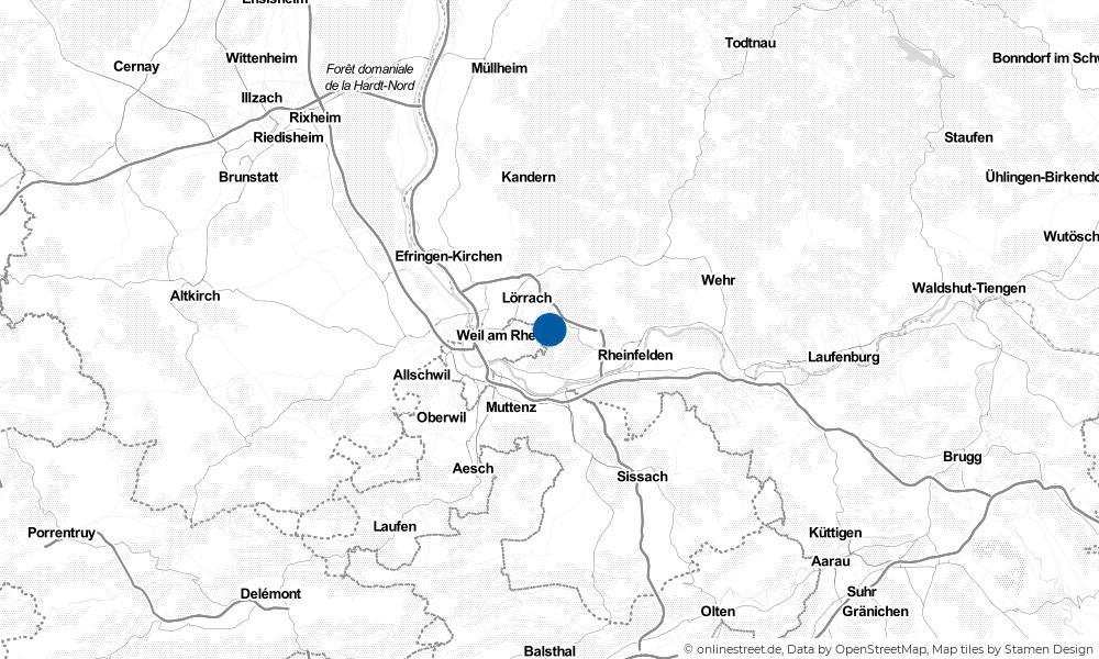 Karte: Wo liegt Inzlingen?