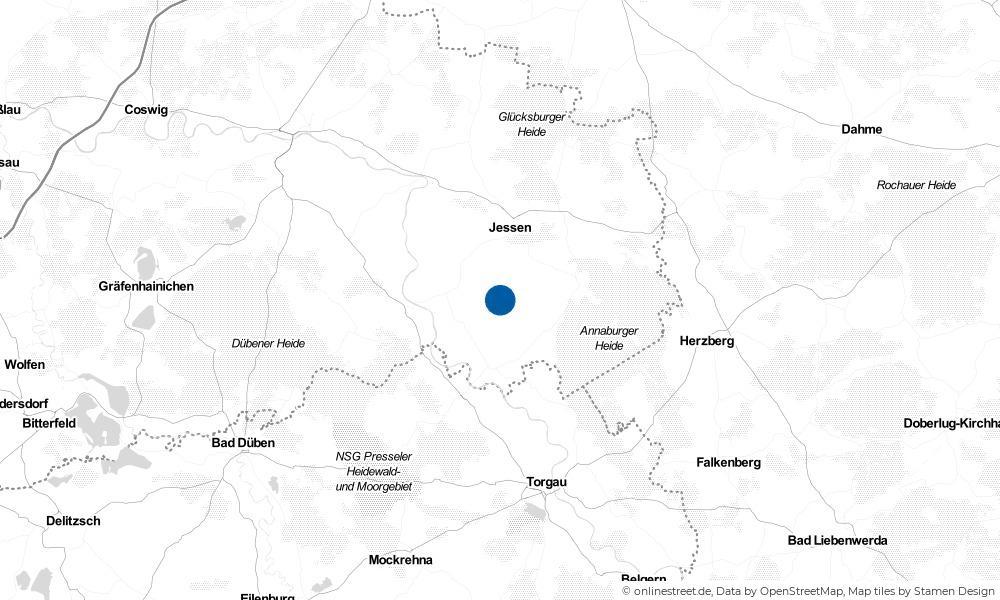 Karte: Wo liegt Lebien?
