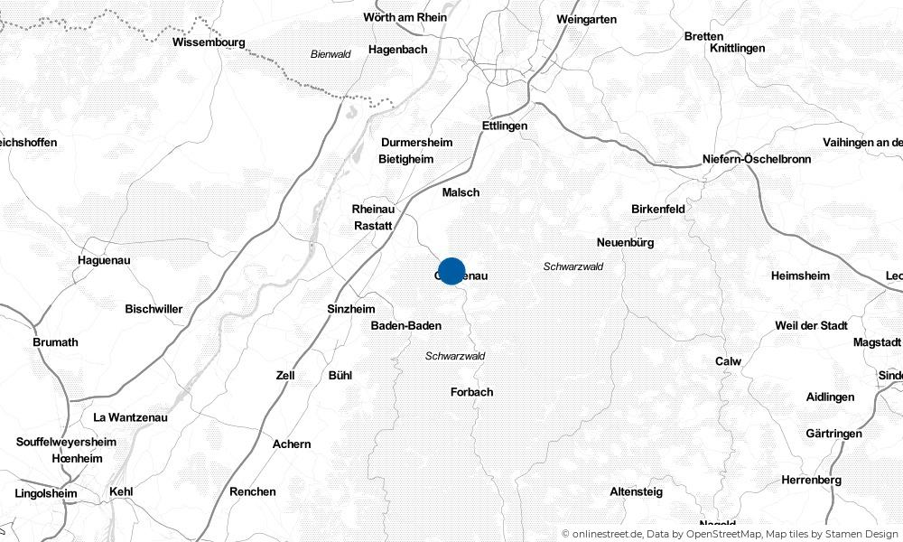 Karte: Wo liegt Gaggenau?