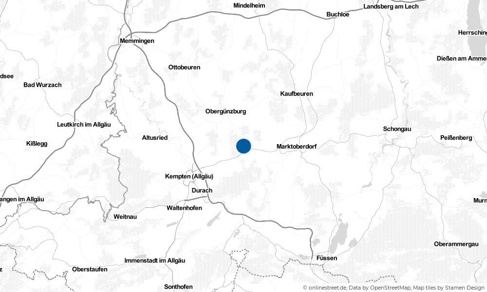 Karte: Wo liegt Kraftisried?
