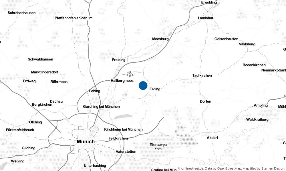 Karte: Wo liegt Oberding?