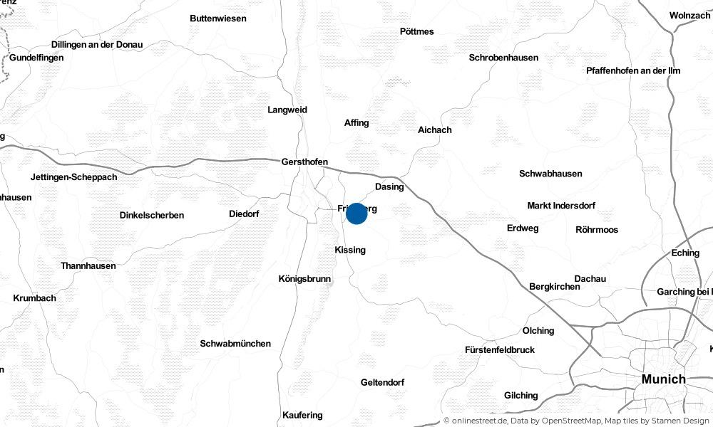 Karte: Wo liegt Friedberg?